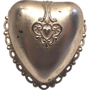 Dennison Heart Shaped Ring Presentation Box circa 1930