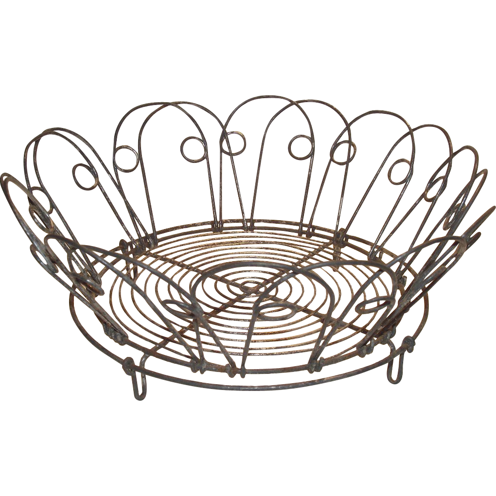 Victorian German Wire Basket Collapsible to use as Plate