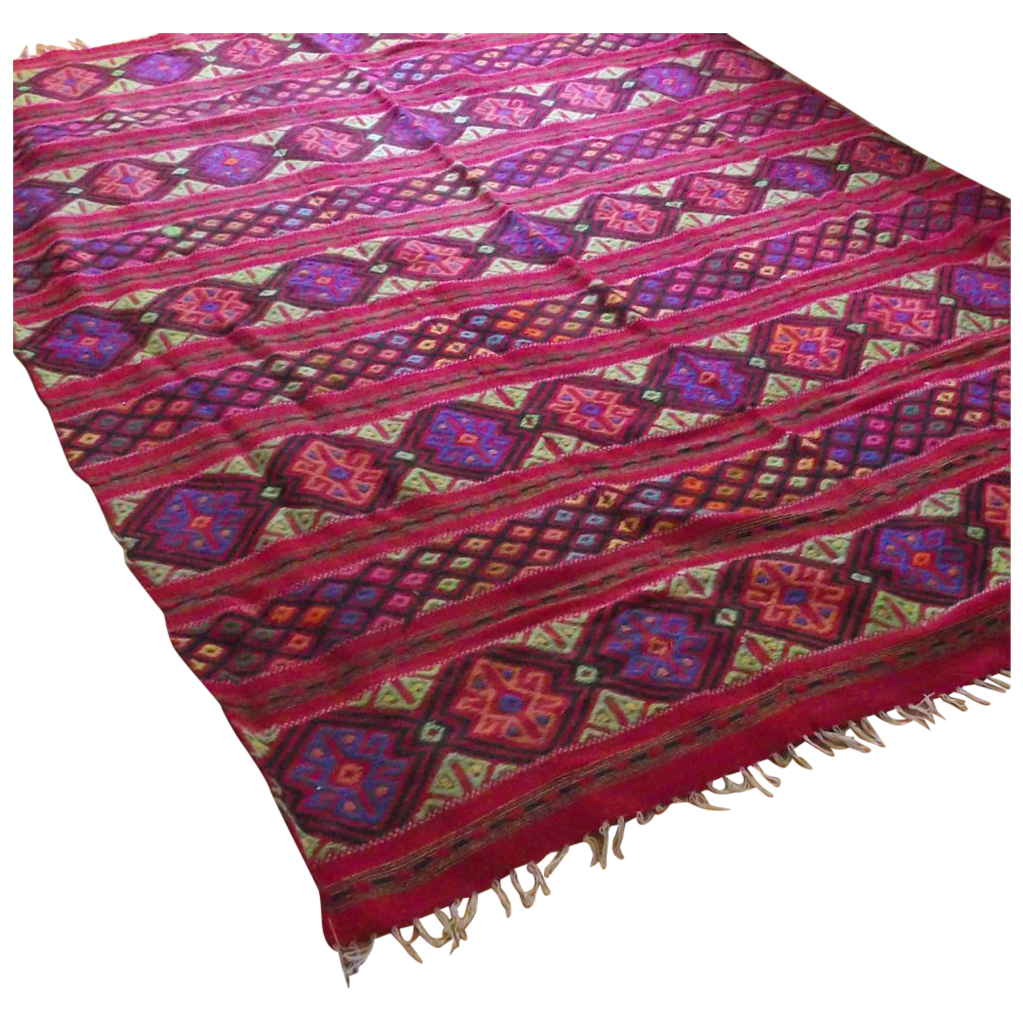 Hand Loom Woven Central American Room Size Floor Rug