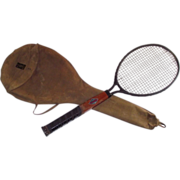 1923 Dayton Co Tennis Racquet in Original Canvas Case