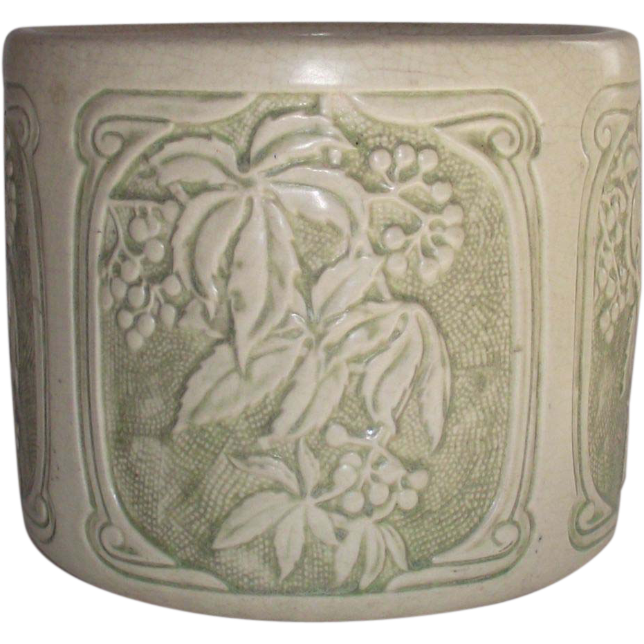 Weller Roma Jardiniere 1920s with MacKintosh Style Lines