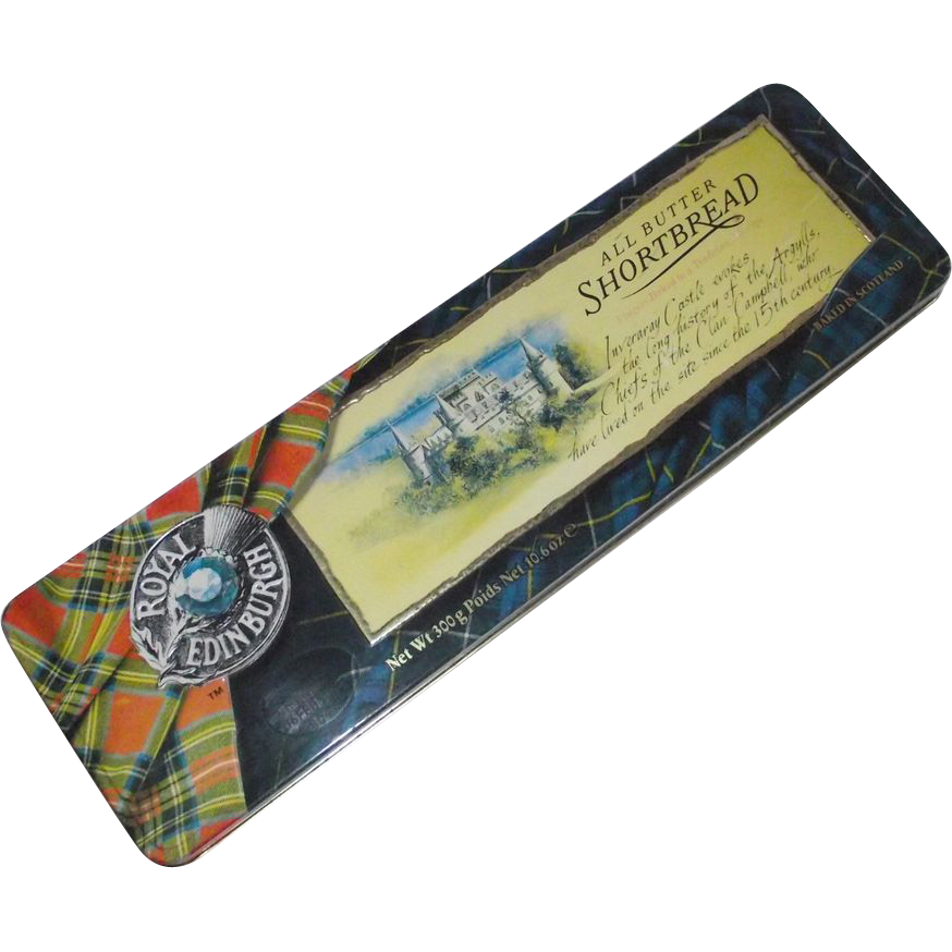 Royal Edinburgh Tartan Inveraray Castle Biscuit Tin