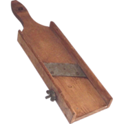 Hand Hewn Wooden Mandolin Slicer  Circa 1900   Kitchen Country