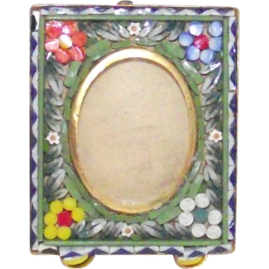 Tiny Micro Mosaic Picture Frame Perfect Baby Picture Size