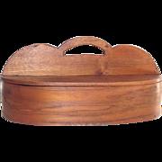Hand Made Oak Splint Sewing Caddy  c. 1855-60