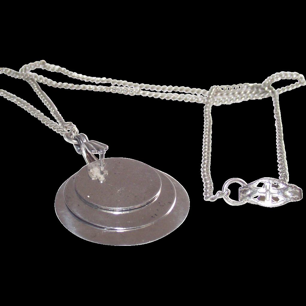 Sterling Triple Tablets Pendant Necklace
