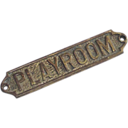 Brass Playroom Sign Vintage  Adult Playroom