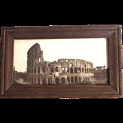Real Photo Sepia Tone Circa 1900 Rome Colosseum