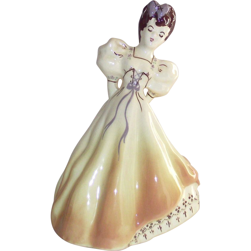 Modglins of Los Angles Hand Painted Summer Lady Figurine