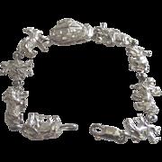 Silver Noahs Ark Bracelet with Many Animals