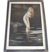 Nude Nymph at Twilight Print Blonde Au Crepuscule  by Paul Chabas