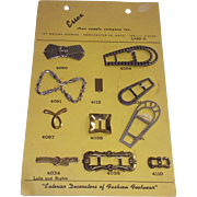 Salesmans Sample Shoe Decorations Adornments Complete Card