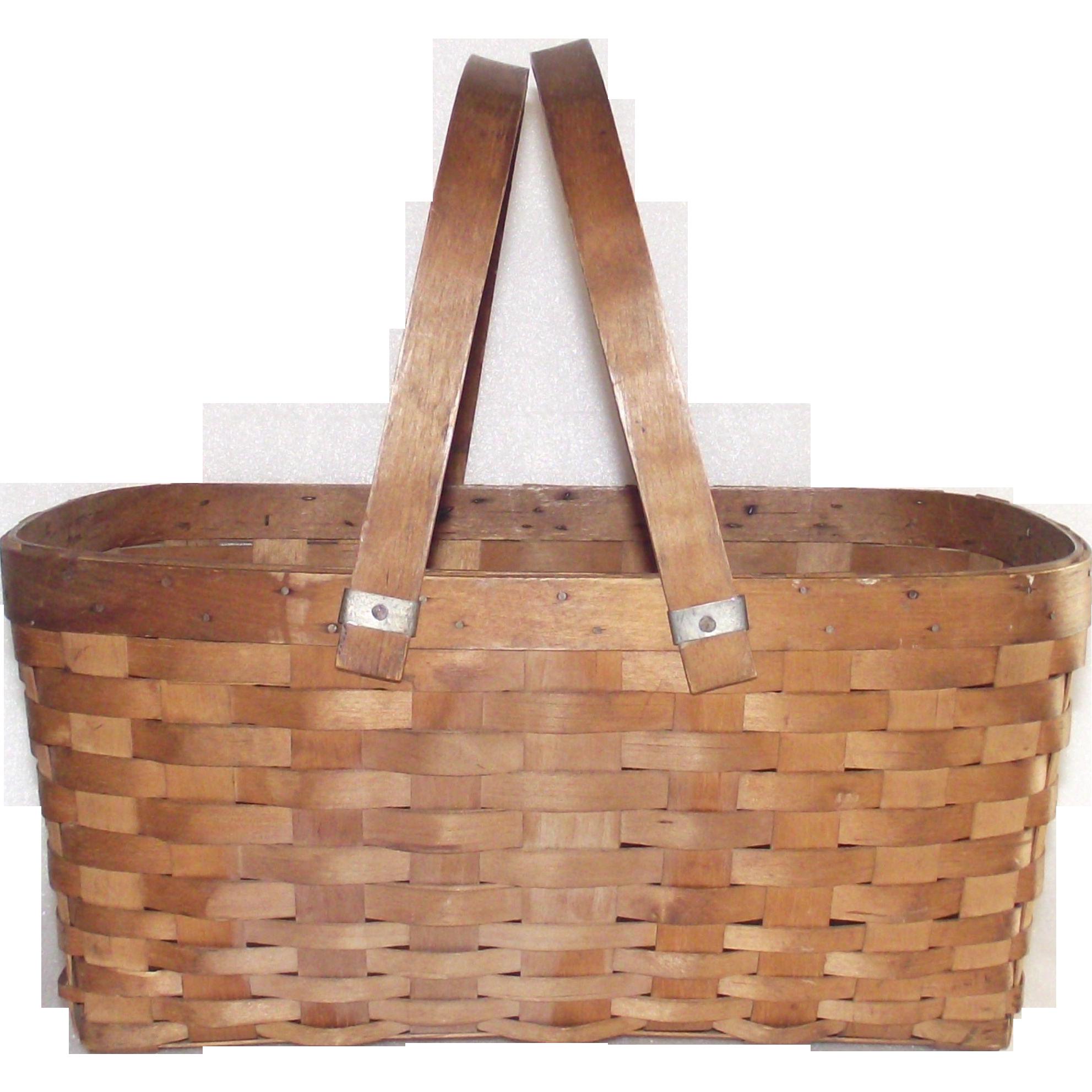 Swing Handle Splint Gathering Basket