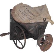 "Vintage Farm Broadcast Seed Sower with Hand Crank  ""The Cahoon"" by Goodell Comp. Amherst N.H. 1861 Patent"