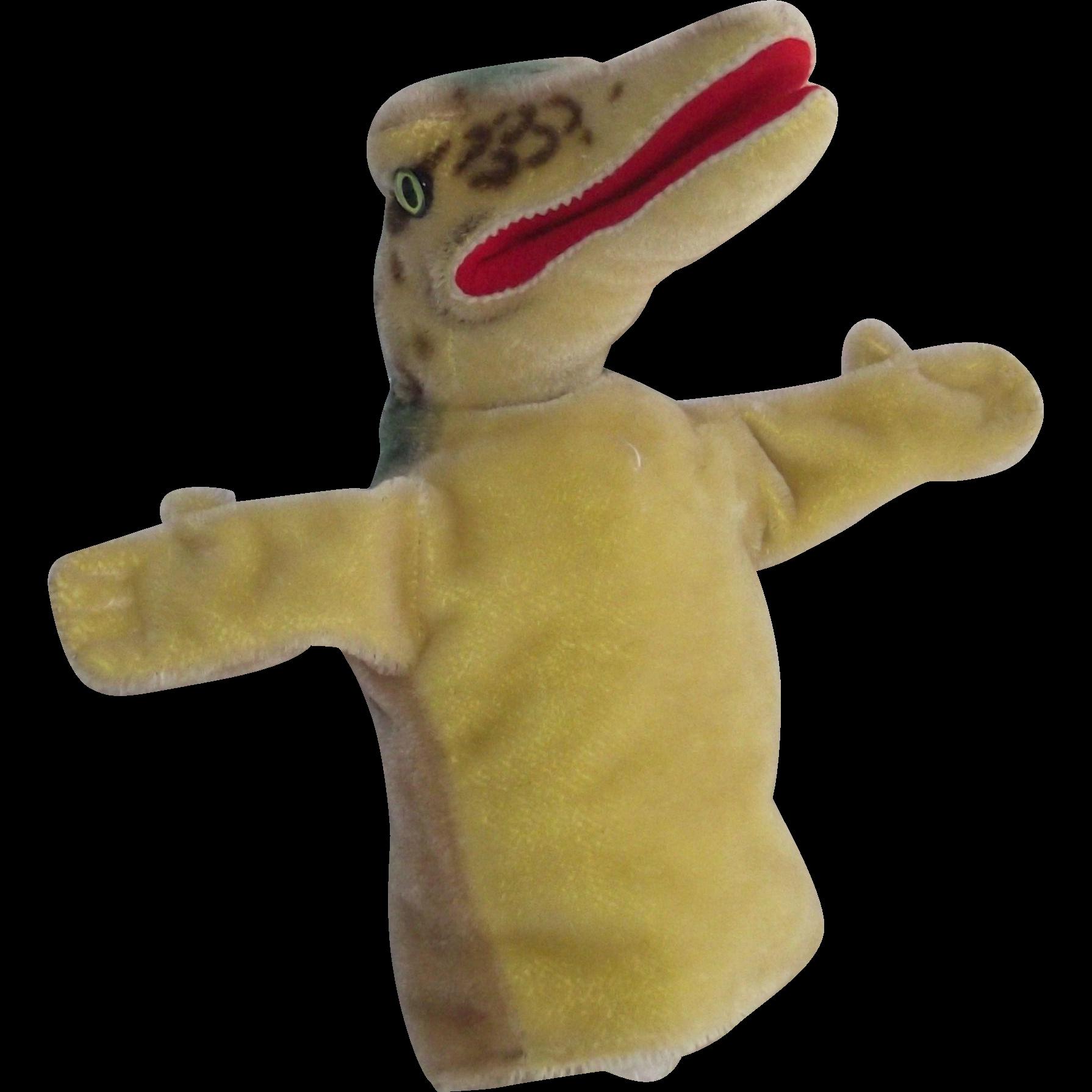 Steiff Gaty the Alligator Hand Puppet circa Mid 1960's