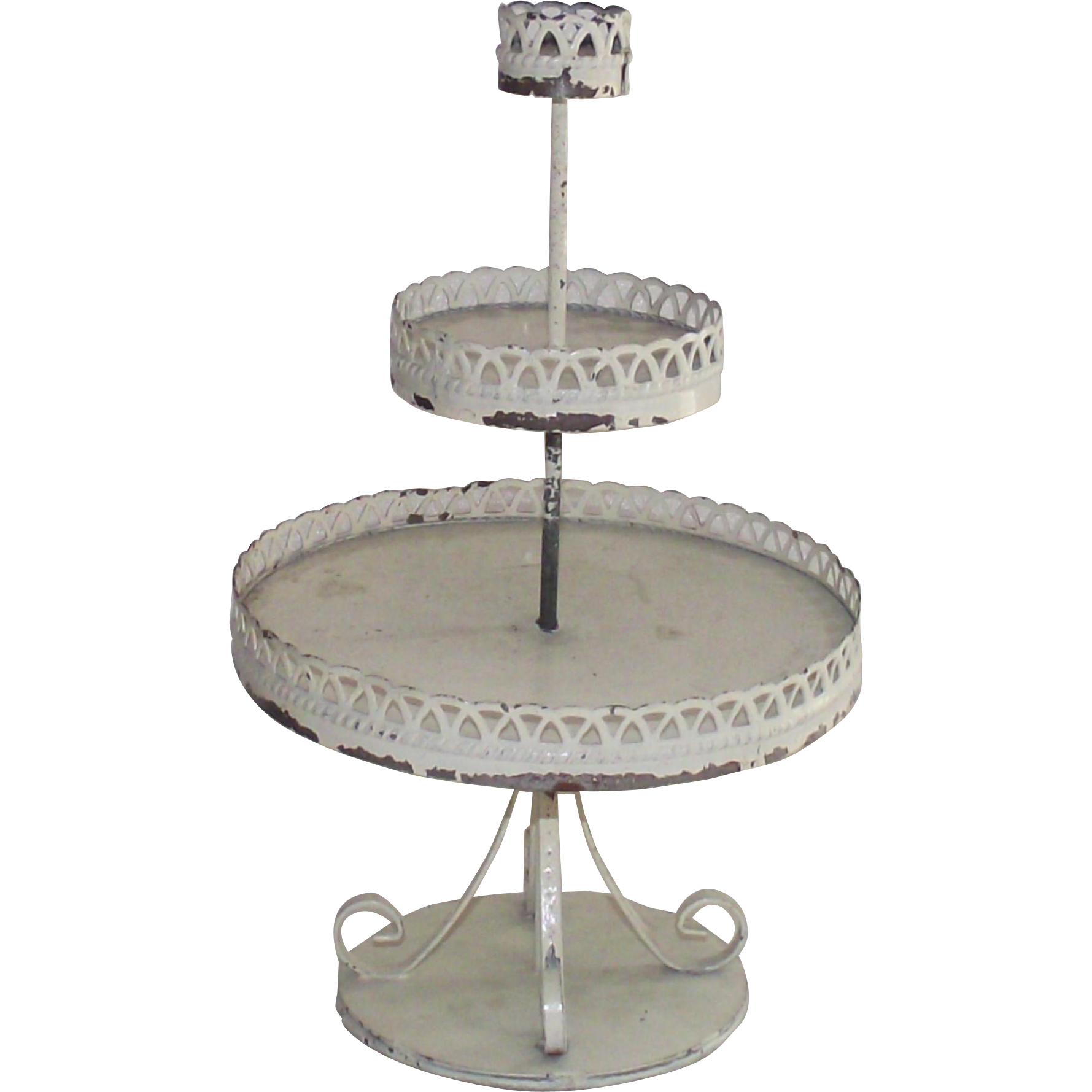 Vintage Doll House 3 Tiered Wire Stand for the Garden or Patio