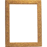 "Victorian Era Gesso Gilt Frame Acorns and Oak Leaves 16"" x 12.5"" - Red Tag Sale Item"