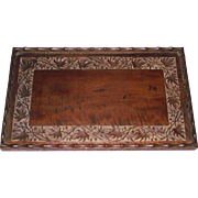 Antique Empire Era Butlers Tray  Indian Carved Mahogany