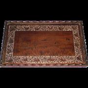 Empire Era Butlers Tray  Indian Carved Mahogany