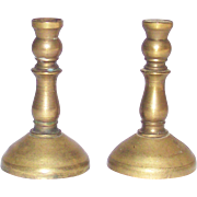 Vintage Miniature Doll House Brass Candlestick Holders