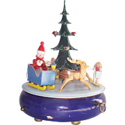 Vintage Steinbach Musical Christmas Tree Swiss Music Box Volkskunst Germany