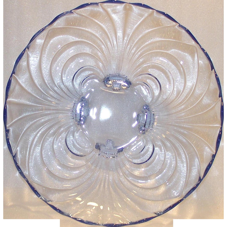 Vintage Cambridge Midnight Blue 10 ¼inch Console Bowl