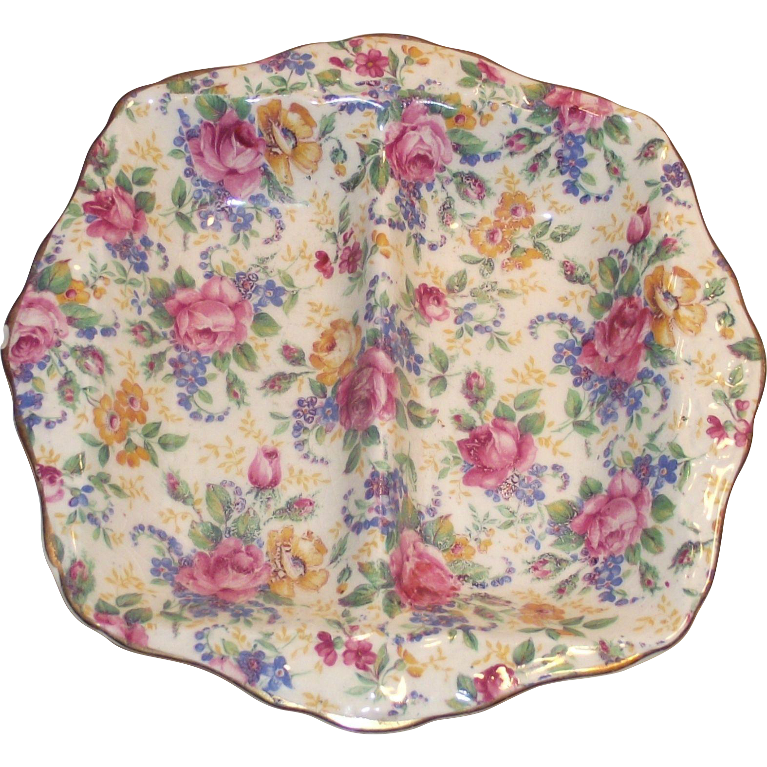 Vintage James Kent  Chintz Relish Dish Rosalynde