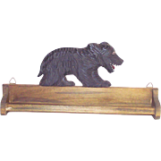 Vintage Black Forest Style Bear Tie – Towel  Rack