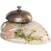 Vintage Victorian Mother of Pearl Shell Hotel Front Desk Bell