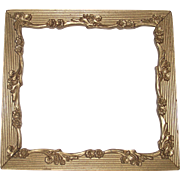 Vintage Gilt Frame with Forget me Nots Circa 1900