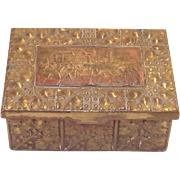 Arts and Crafts German Pressed Brass Dresser Box