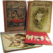 """Victorian Children's Books Four Books Two from the 1880's and Two from the 1940""""s"""