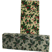 Vintage Christmas Two Piece Gift and Candy Boxes With Holiday Paper Circa 1920's