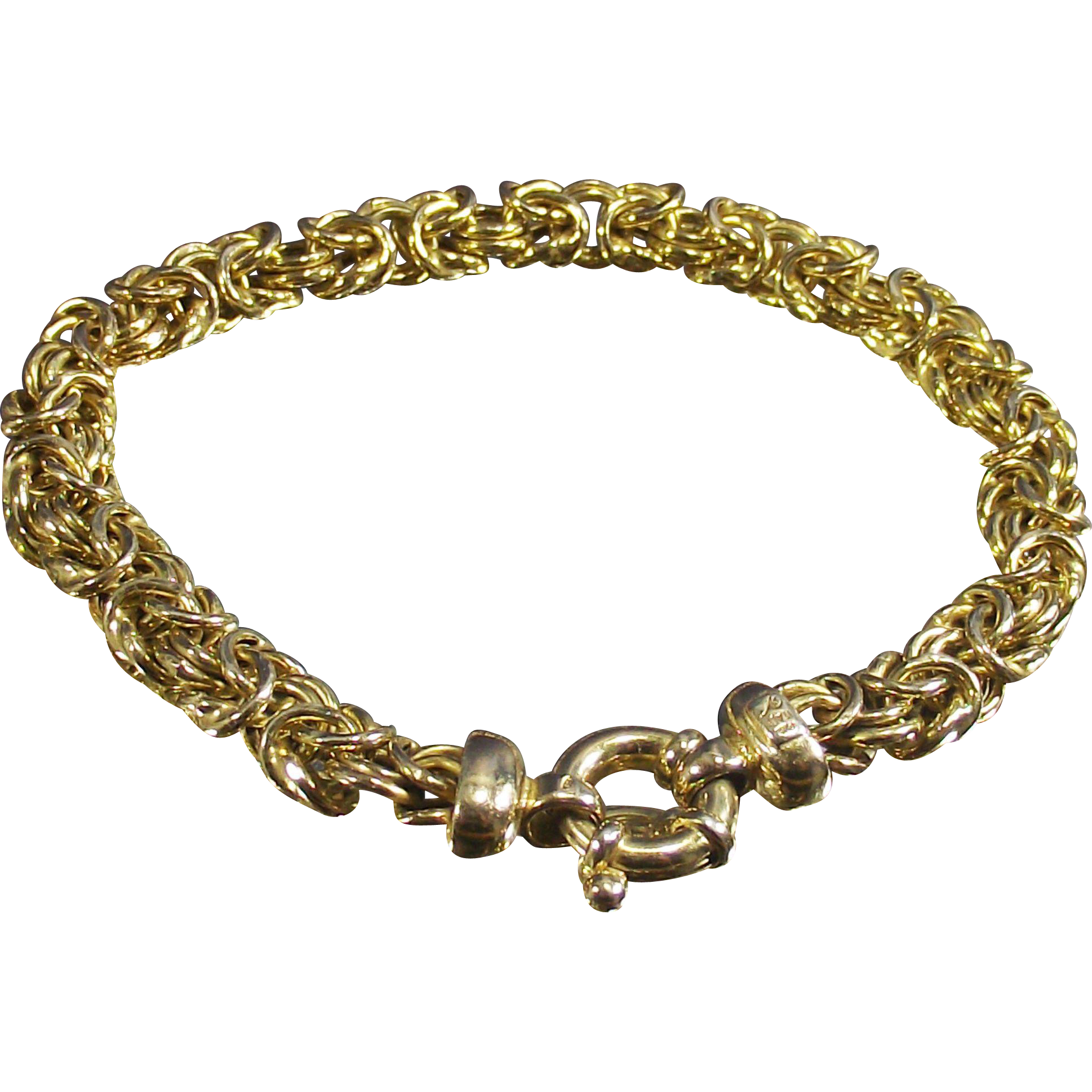 Vintage Byzantine Bracelet with Over Sized O Ring Clasp