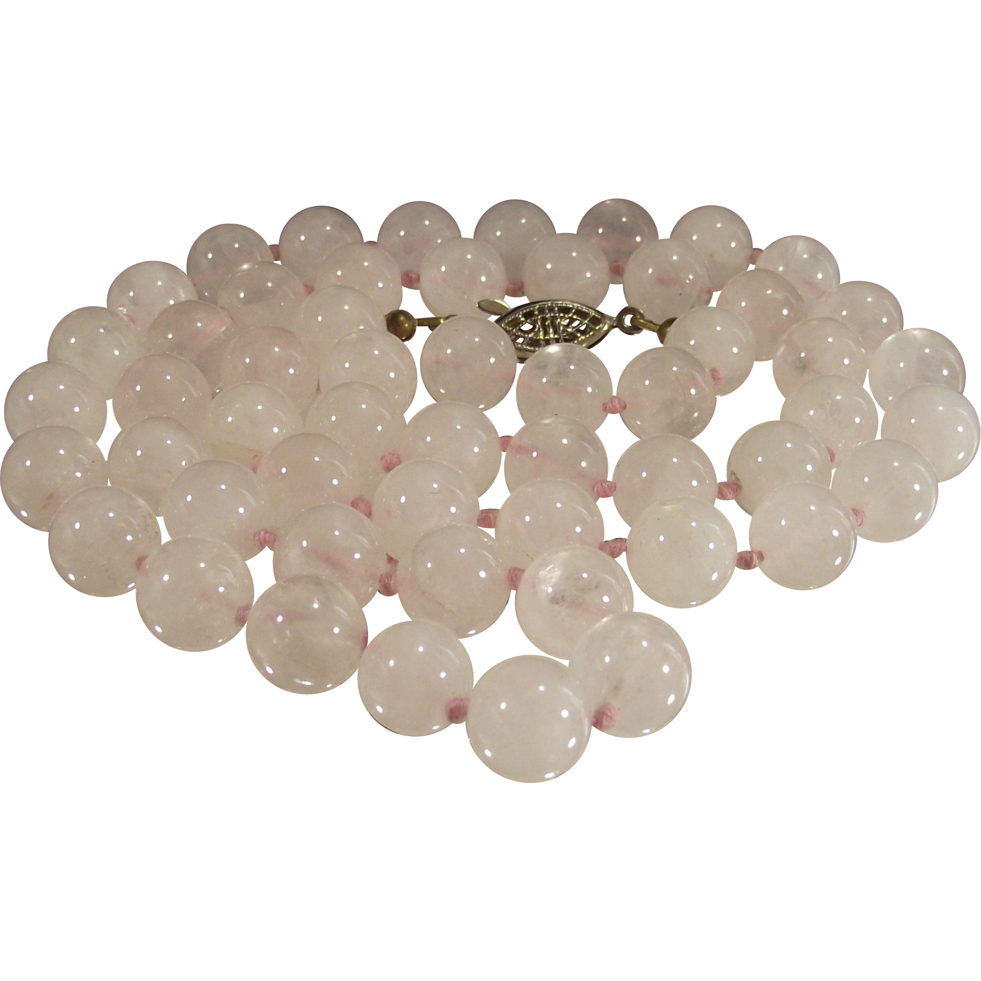 Vintage Rose Quartz Necklace