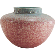 Middle Period Roseville Tourmaline Vase A200-4  1933 Turquoise and Rose - Red Tag Sale Item