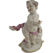 Vintage West German Porcelain Cherubs Playing Hide and Seek