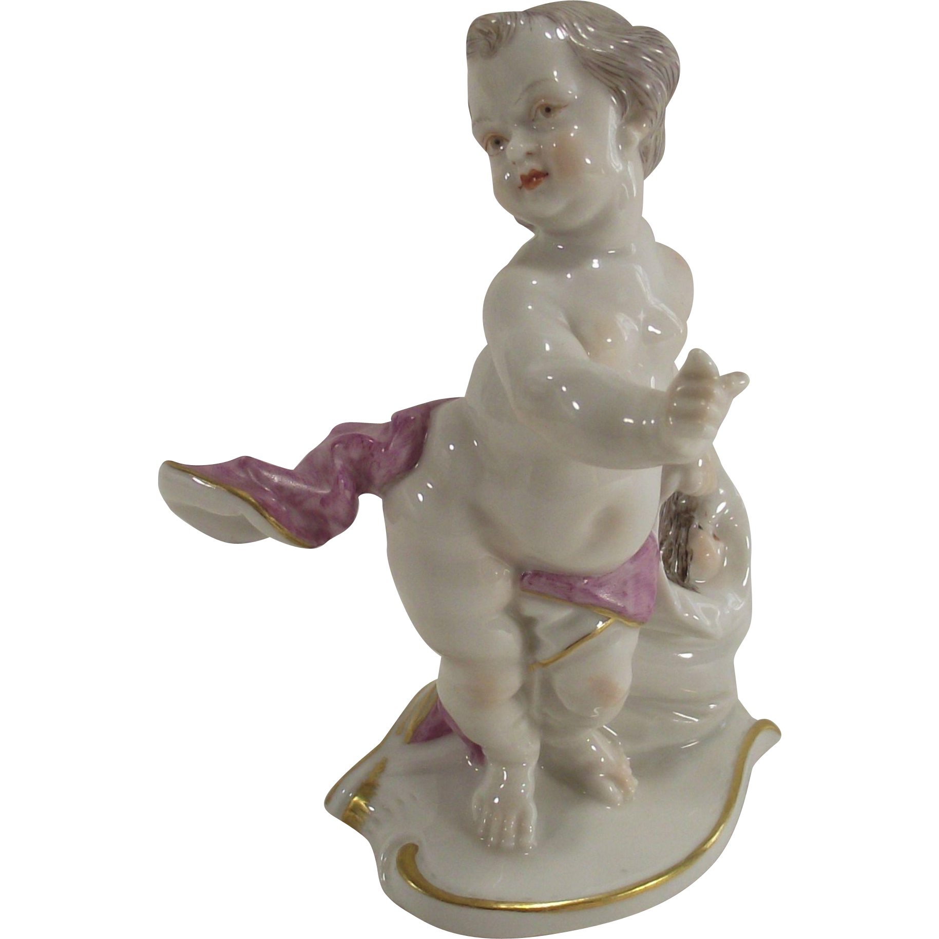 Vintage Porcelain Cherubs Playing Hide and Seek West German