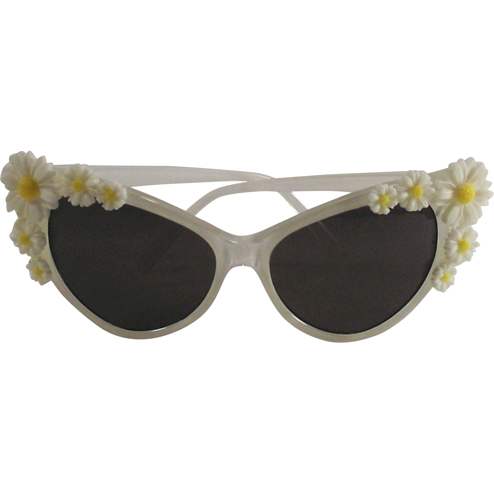 Vintage 1960's Mod Ladies Sunglasses with Daisies