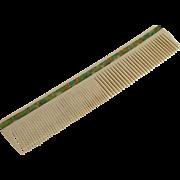 Vintage Art Deco Era Celluloid Hair Comb