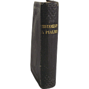 Victorian 1852 Pocket New Testament and Complete Psalms