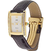 Vintage Jacqueline Kennedy Classic Rectangular Case Watch by Camrose and Kross