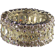 Vintage Eternity Band Wide Complete Sterling and  CZ's