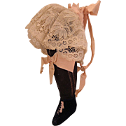 Victorian Pin Cushion Shoe and Leg with Stocking