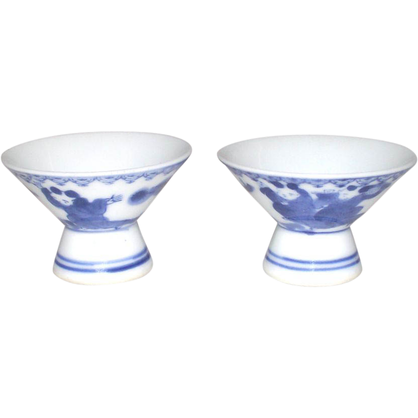Japanese Hirado Sake Cups Two Piece