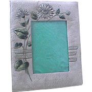 Vintage Embossed Victorian Paper Picture Frame with Daisies