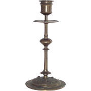 Vintage Bronze Art Nouveau Candle Stick Single Circa 1900