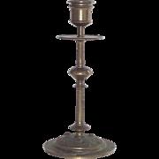 Vintage Bronze Art Nouveau Candle Stick Single Circa 1900