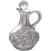 Vintage EAPG Cruet Victorian EAPG Early American Pattern Glass in the Inverted Thumb Print Pattern