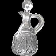 Vintage EAPG Cruet Diamond number 488 made by Ohio Flint Glass Co circa 1896